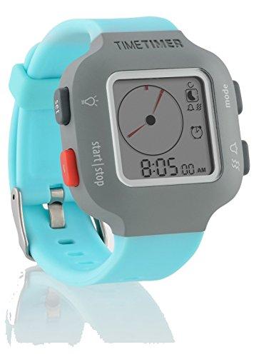 time-timer-armbanduhr-damen-und-kinder-grau-mit-hellblauem-armband