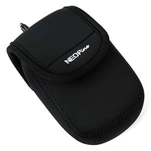 First2savvv QSL-G7Y-01 noir étui housse appareil photo numérique pour Sony RX100 IV RX100 M4 , RX100 M3 , DSC HX90 WX300 WX500