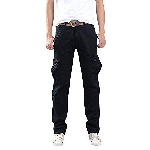 Pantalons Homme CIELLTE Muti-Poches Straight Pantalon de Travail Cargo Skinny Pantalon de Sport Trousers Chino Grande Taille
