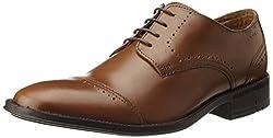 Ruosh Mens Tan Leather Formal Shoes - 7 UK/India (40 EU)(8 US)