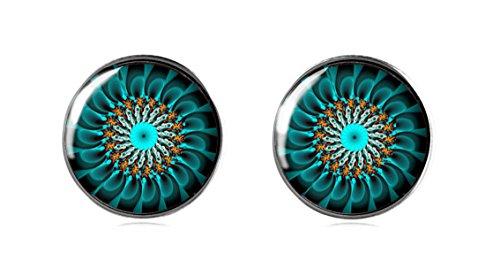 Tizi Jewellery Handgemachte 12 mm 925 Sterling Silber Ohrstecker für Mädchen und Damen in (Opal Flügel Schwanz)