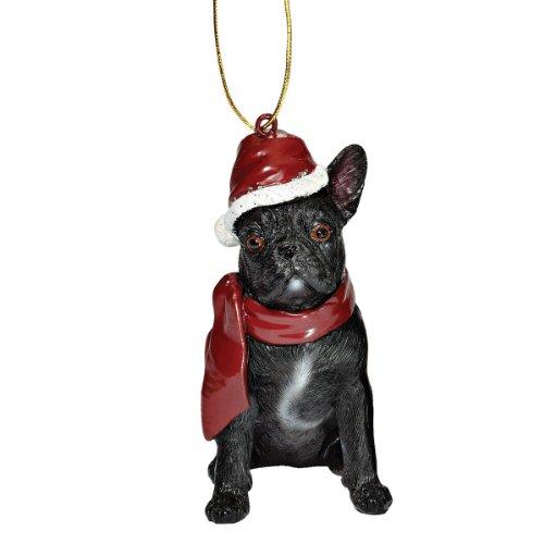 Design Toscano JH576324 Décorations de Noël - Noël de bouledogue français Ornements chiens de vacances
