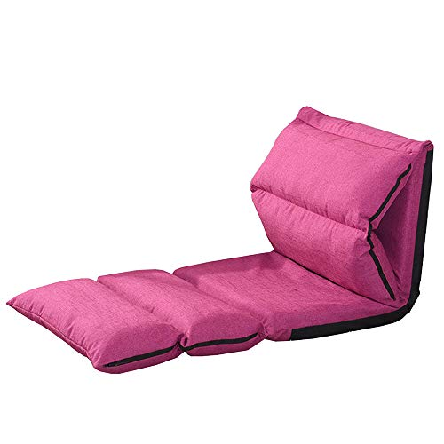 XIAOYAN Boden Stuhl Faltbare Rückenlehne Home Office Futon Matratze Sitz zum Lesen Fernsehen 5 Farben (Grau) (Farbe : Pink) - Metall-futon-matratze