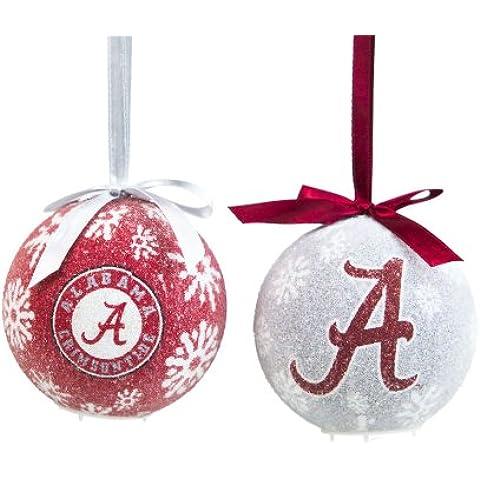 Alabama Crimson Tide-Set di decorazioni natalizie a LED
