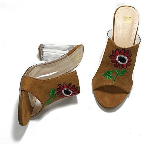 Sandali Signora Pantofole Sandali Casuali Brown