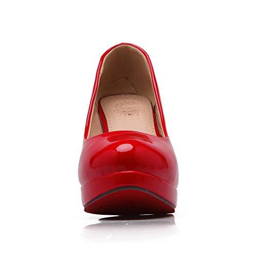Balamasaapl10304 - Sandales Compensées Pour Femmes Rouge