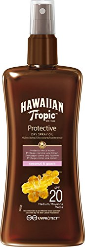 Hawaiian Tropic Protective Dry Spray Oil Sonnenöl LSF 20, 200 ml, 1 St (Entfernen, Sonne Flecken)