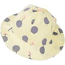 Phenovo Baby Unisex Polka Dots Bucket Hat (Yellow)