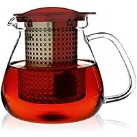 Finum Tea Control 1,0 l tetera con Control-mecanismo de las, rojo