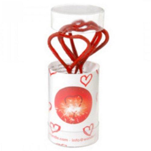 Wunderkerze - Wondercandle Herz, rot, ca. 3cm - 3 Rote Herzen