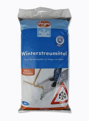 3x 10 Liter Winterstreumittel Winterstreu Streugut Streugranulat Stoppt die Rutchgefahr auf Wegen und Plätzen