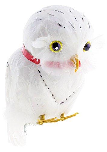 Eule Kostüm Schnee - Schnee Eule Hedwig zum Zauberer Kostüm - Weiß - Tolles Zubehör zu Hexe Märchen Fantasy Kostüm