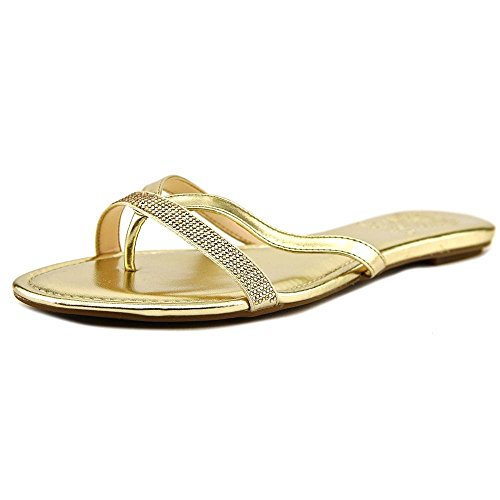 Vince Camuto Folly Femmes Cuir Tongs Summer Gold