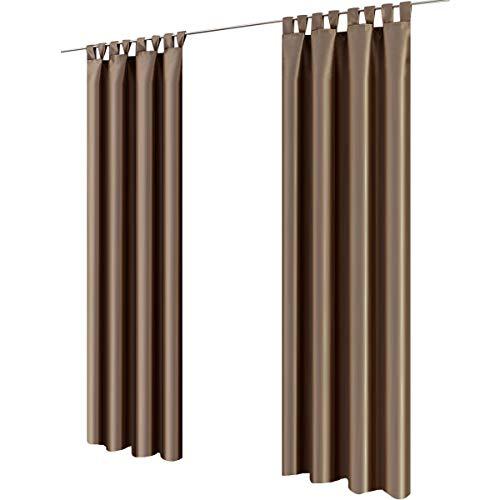 Graefe stayn figura passanti, ca. 140x 245cm blickdichter tenda decorativa in effetto seta marrone