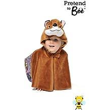 GSC - Disfraz infantil de zorro estilo capa con capucha (3-8 años)