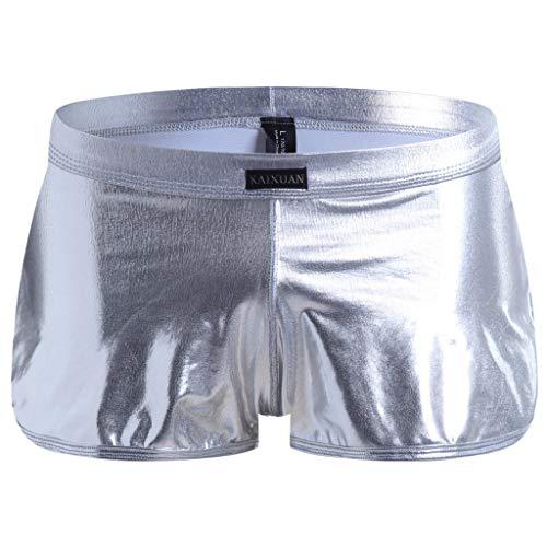 Bfmyxgs stilvolle Männer Junge Sexy Unterwäsche Patent Shorts Unterhose Leder Slip Slip Boxershorts Höschen Shorts Kurze Hosen Unterwäsche Unterhose