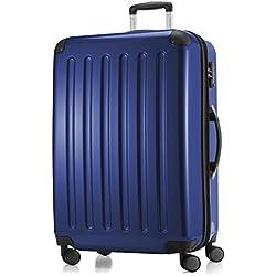 HAUPTSTADTKOFFER - Alex - Hartschalenkoffer Trolley Rollkoffer Reisekoffer Erweiterbar, TSA, Doppelrollen, 88 cm, 160 Liter, Dunkelblau
