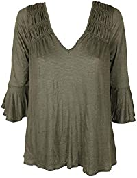 785f1a032a4 American Rag Juniors  Ruched Bell-Sleeve Blouse