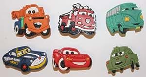 Disney Cars McQueen Mix Shoe Charms Set of 6 - Jibbitz / Croc Style