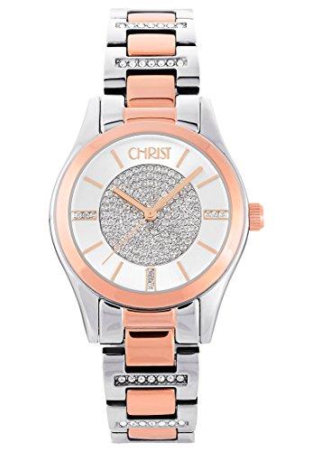 CHRIST times Damen-Armbanduhr Analog Quarz One Size, silberfarben, silber