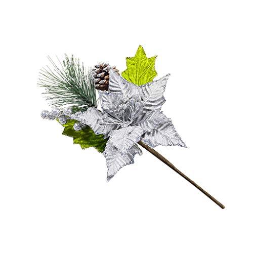 Hut Kostüm Silver Hüte Top - Daygeve Zuhause Party Deko, Anatomische Tracing, Medizinische Lehre, Halloween Dekoration Statue,Schöne künstliche dekorative künstliche Blumen-Weihnachtsbaum-Dekoration