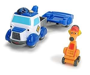 Dickie Toys–Eroe della Città, Andy abschleppwagen Set di gioco, il abschleppauto con luce, canzoni originali, Suoni e funzione unidirezionale, con carte collezionabili con codice segreto