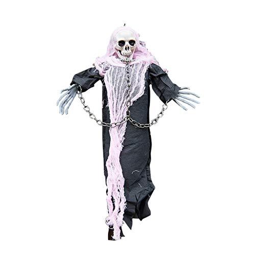 Mitlfuny Halloween coustems Kürbis Hexe Cosplay Gast Ghost Schicke Party Halloween deko,Halloween-Horror-Requisiten, die Stangen-Atmosphären-Szenen-Dekoration hängen