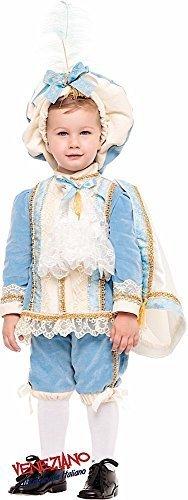 Reich Blau Tudor Prinz Karneval Buch Tag Woche historisch Kostüm Kleid Outfit 1-6 Jahre - Blau, 2 years (Tudor Outfits Für Jungen)