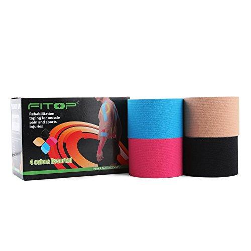 FITOP 4 Rotoli Di Nastro Kinesiologico in Cotone 5cm x