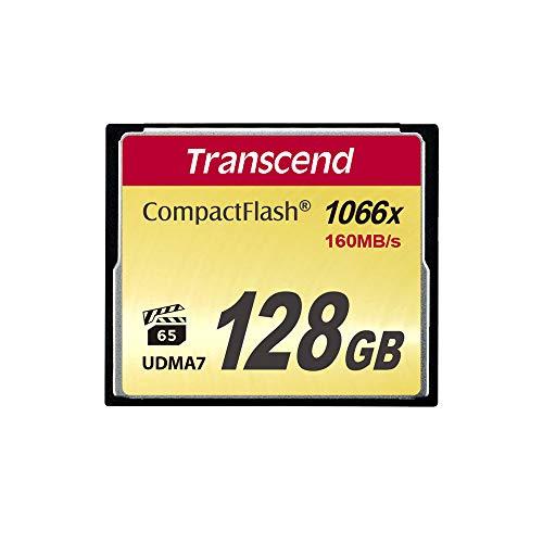 Transcend 128 Go Carte mémoire CompactFlash (CF) UDMA 7 1000x TS128GCF1000