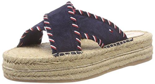 Tommy Hilfiger Interlace Suede Flatform Sandal