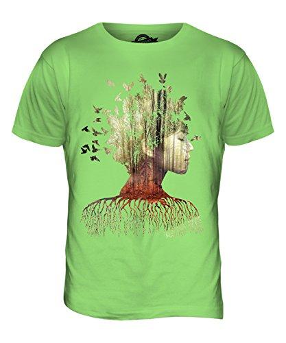 CandyMix Doppelbelichtung Modell Im Wald Herren T Shirt Limettengrün