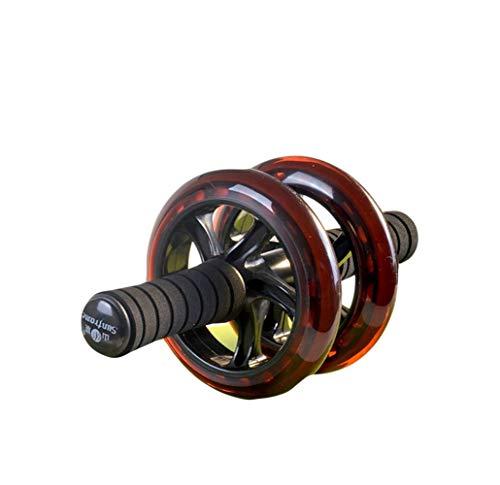 Ab-Rollen-Rad, Abdominal- Übungsrollen-Doppelrad Mit Schaum-Griffen (Color : Red) (Roulette-rad 20)