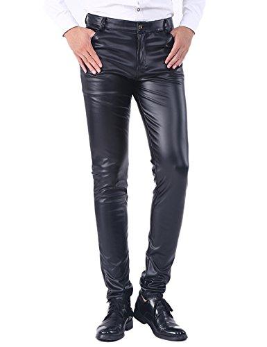 Idopy i Pantaloni Sottili di Cuoio di Estate degli Uomini Hanno Inverno i Jeans dell'unità di Elaborazione dei Pantaloni di Spessore