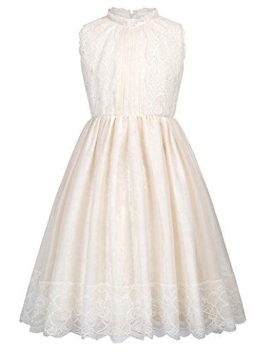 0943fa5cc GRACE KARIN Vestido de Fiesta para Niñas Vestido sin Mangas Flores de Dama  de Honor Boda Bautizo 2-12 Años