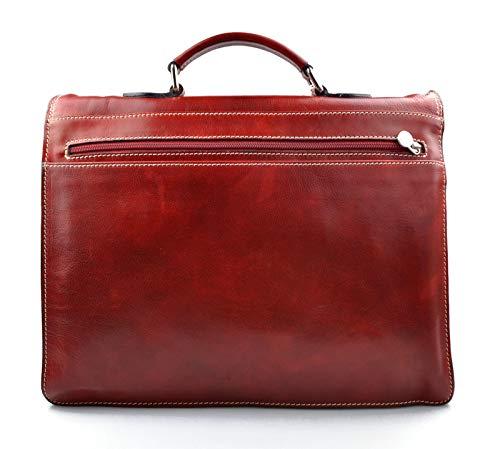 9ae0009d13 Cartella pelle uomo donna borsa lavoro messenger borsa pelle valigetta 24  ore ...
