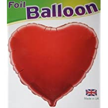 (195) 45.7cm CORAZÓN ROJO globo metalizado de helio regalo ideal san valentín compromiso