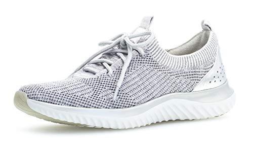 Gabor 26.980 Damen Sneaker,Low-Top Sneaker, Frauen,Halbschuh,Sportschuh,Schnürschuh,atmungsaktiv,Optifit- Wechselfußbett,grau k. (S.grau),5 UK