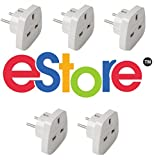 DJ2GO Travel ESEU5 5 x HQ UK to European Plug Travel Adaptor