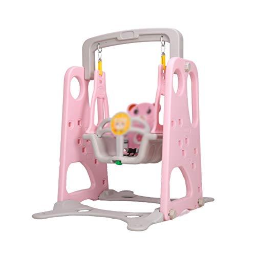QQET-L Juego Swing, Baby Creative Household Sliding Ladder Lifts Swing Decoración Al Aire Libre portátil de la habitación de los niños Swing 78 * 115 CM (Color : Pink)