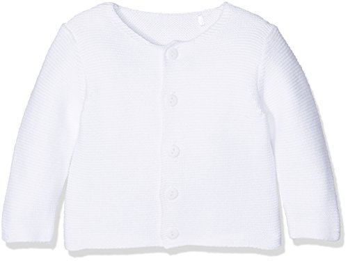 Mothercare Unisex Baby Strickjacke White Purl Knit, Weiß, 3-6 Monate