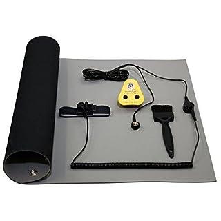 Antistatische Erdungsmatte, EU-Erdung, ESD, 600x 500mm oder 1200x 500mm, blau oder grau