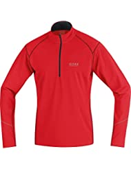 GORE RUNNING WEAR Herren Warmer Thermo-Lauf-Jersey, GORE Selected Fabrics, ESSENTIAL Thermo Zip Shirt long, SESSET