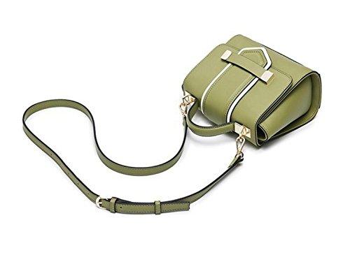 La Signora Spalla Del Pacchetto Della Cinghia Di Modo Della Borsa Fibbia Borsa Messenger Bag Da Polso Per Il Tempo Libero Borse Da Viaggio Green