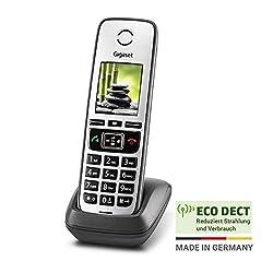 Gigaset Family Mobilteil - Schnurloses Telefon zur Anbindung an Router und Basisstationen - anthrazit-grau