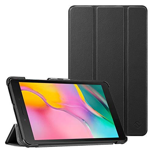 FINTIE Custodia per Samsung Galaxy Tab A 8.0 Senza S Pen - Ultra Sottile Leggero Cover Protettiva Case per Samsung Galaxy Tab A 8.0 Pollici Modello SM-T290 / SM-T295 2019, Nero