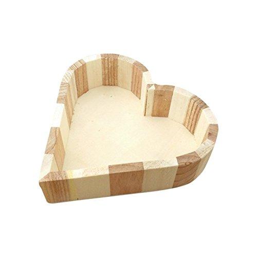 Hrph Kind-Kind-Baby-Spielzeug aus Holz Handwerk Holz Schmuckschatulle Liebes-Herz-Form-DIY Schlamm Basis Kunst-Dekor