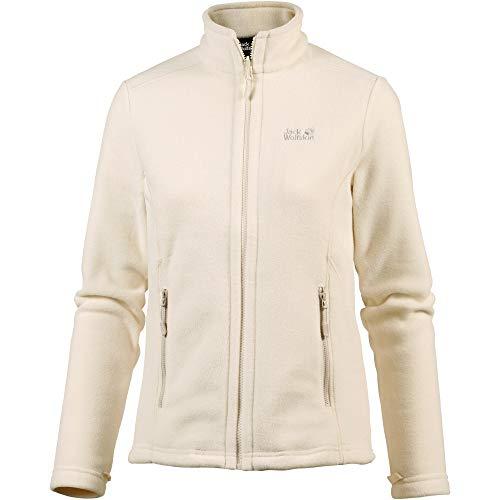 Jack Wolfskin Damen W Moonrise JKT Klassisch Robust Systemreißverschluss Outdoor Fleecejacke, Weiß (weiß sand),XL Bekleidung Fleece Jacken