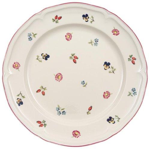 Villeroy & Boch Petite Fleur Speiseteller / Hochwertiger Porzellanteller in Weiß / Ergänzung zu Geschirrsets der Petite Fleur Serie / 1 x Teller