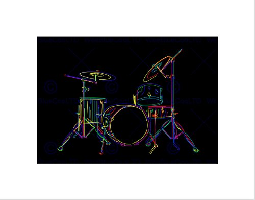 multcoloured-drum-set-drums-drawing-stick-black-framed-art-print-b12x9394